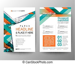 Abstract shape background for Poster Brochure Flyer design Layout vector template