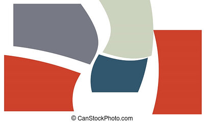 Abstract shape color animation. Full HD motion graphic. Trendy vibrant background