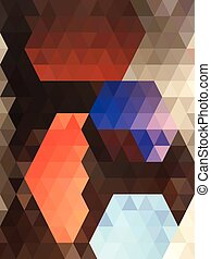 Abstract shape in orange center triangle pattern