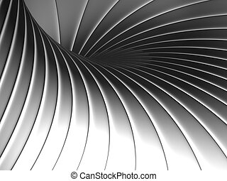 Abstract shape metal background