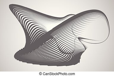 abstract shape transformation background  vector