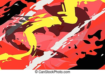 abstract shapes on red background vector
