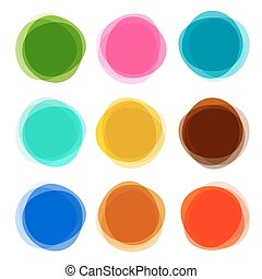 Abstract Shapes Set. Colorful Vector Circle Objects Isolated on White Background.