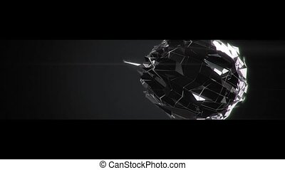 Abstract shattered sphere animation