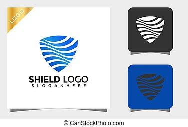 Abstract Shield logo designs vector Illustration
