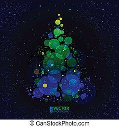 Abstract shining christmas tree