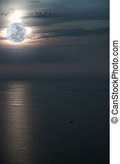 Abstract shining ocean