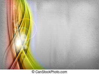 abstract shining shapes