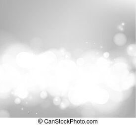 Abstract shining space futuristic background. Fasion golden background. Bokeh light circles over gray backdrop.