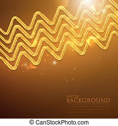 abstract shiny background with golden zigzags