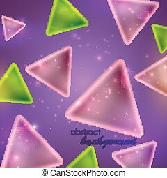 abstract shiny background with triangle shapes