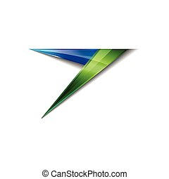 Abstract shiny colorful arrow icon logo