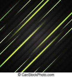 Abstract shiny green glowing stripes vector flyer design