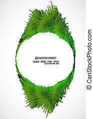 abstract shiny green grass vector circle frame