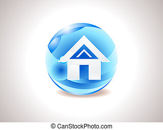 abstract shiny home icon