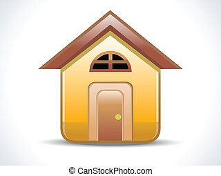 abstract shiny home icon vector illustration