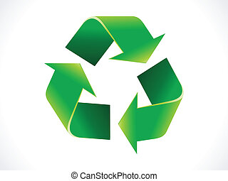 abstract shiny recycle icon