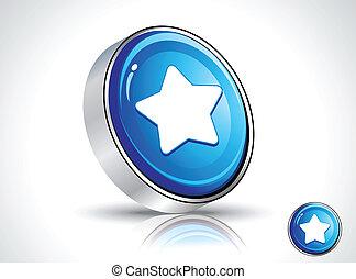 abstract shiny star icon