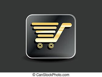 abstract shopping card button