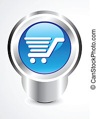 abstract shopping cart button