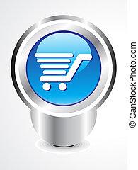 abstract shopping cart button