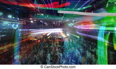 abstract shot of a crowd at a nightclub