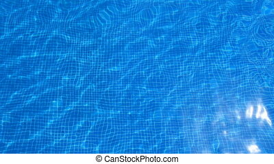 abstract shot of water in a swimming pool