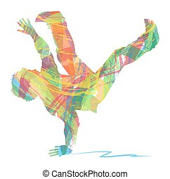 Hip hop silhouettes of dancers vector clipart search hip hop voltagebd Image collections