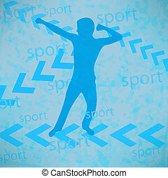abstract silhouette of the champion