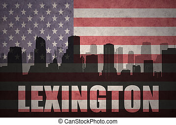 abstract silhouette of the city with text Lexington at the...