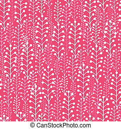 Abstract Silhouettes Plants Seamless Pattern Background