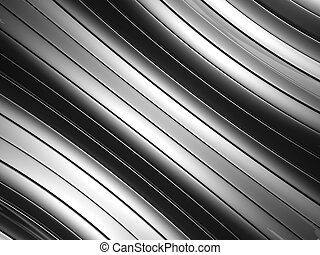Abstract silver aluminium curve stripe background 3d...