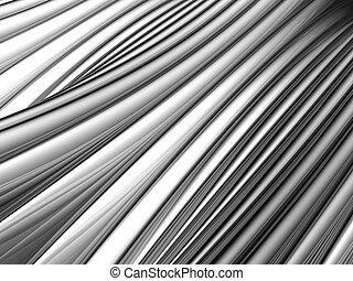 Abstract silver aluminium stripe background 3d illustration