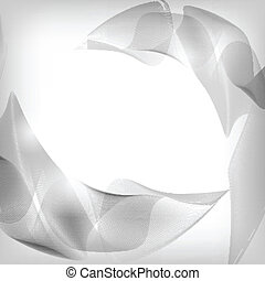 Abstract Silver Background - Vector Illustration