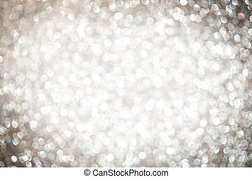 Abstract Christmas background. Silver bokeh