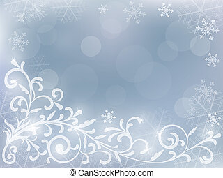 abstract silver christmas background