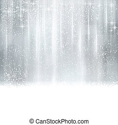 Abstract silver Christmas, winter background