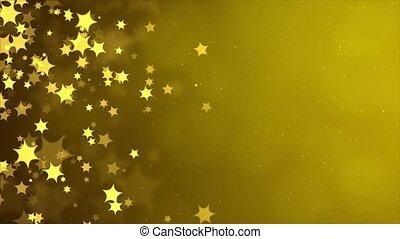 Abstract Silver Golden glitter christmas bokeh Loop Blur bokeh background.