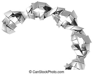 Abstract silver metal cube shape background