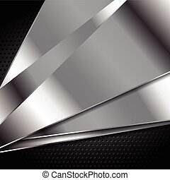 Abstract silver metal vector background