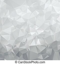 Abstract silver polygon triangles background