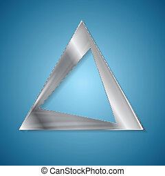 Abstract silver triangle logo design