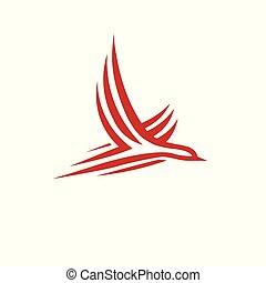abstract simple bird logo