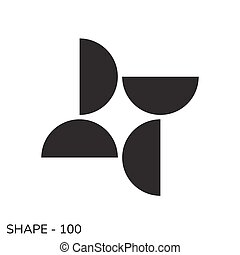 Abstract Simple Geometric Shape Minimal Object Pattern In Black and White Color