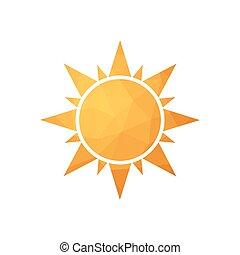 Abstract simple polygonal sun.