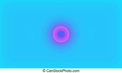 Abstract simple two circles in motion, cartoon background