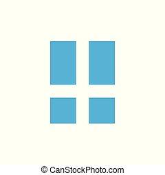 abstract simple window logo vector