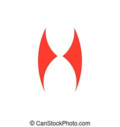 abstract simple wings grunge logo vector
