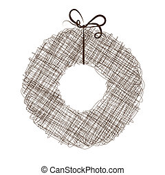 Abstract sketch of wreath for your design