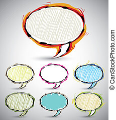 Abstract sketch style speech bubble
